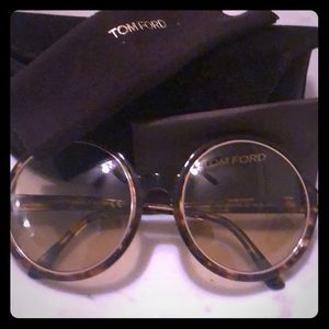 Tom Ford Oversize Round Sunglasses